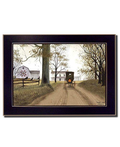 "Trendy Decor 4U Trendy Decor 4U Headin' Home By Billy Jacobs, Printed Wall Art, Ready to hang, Black Frame, 14"" x 10"""
