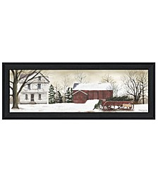 """Trendy Decor 4U Christmas Trees for Sale By Billy Jacobs, Printed Wall Art, Ready to hang, Black Frame, 15"""" x 39"""""""