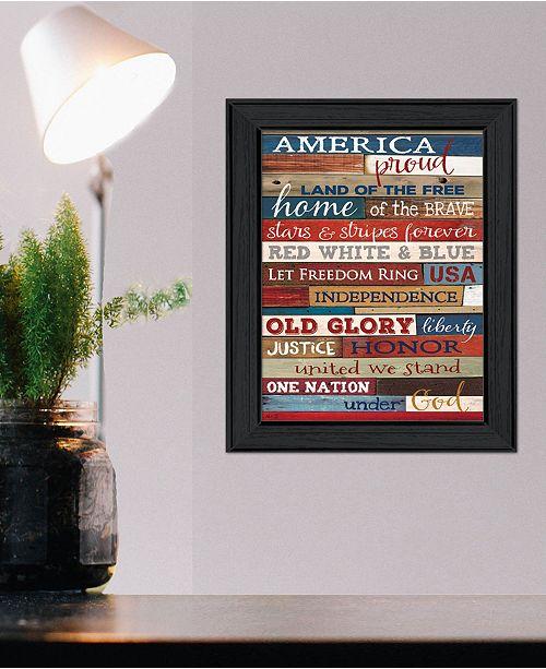 Trendy Decor 4u America Proud By Marla Rae Printed Wall Art Ready To Hang Black Frame 10 X 14 Reviews All Wall Decor Home Decor Macy S