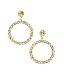 Drop Hoop Imitation Pearl Earrings
