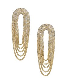 Crystal Drape Fringe Earrings
