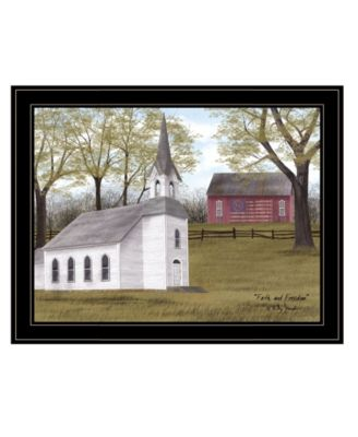 """Faith and Freedom by Billy Jacobs, Ready to hang Framed Print, Black Frame, 27"""" x 21"""""""