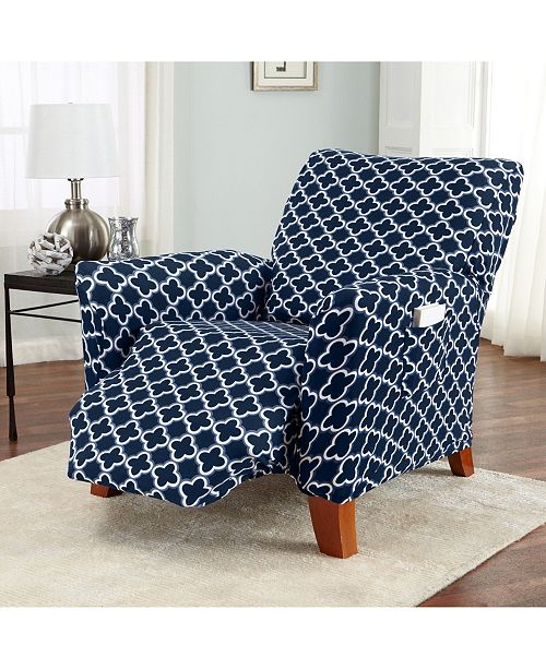 Home Fashion Designs Home Fashions Designs Brenna Collection Stretch Fit Form Fitting Printed Twill Recliner Slipcover Reviews Slipcovers Home Decor Macy S