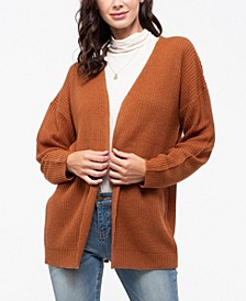 Knit Cardigan with Lace-Up Back