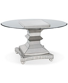 "Moiselle 54"" Glass Top Round Dining Table"
