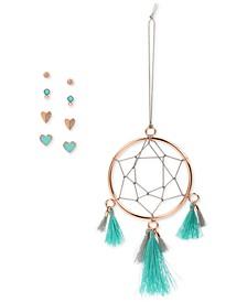 Rose Gold-Tone 4-Pc. Set Stud Earrings & Dreamcatcher Ornament