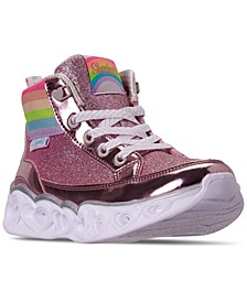Little Girls Heart Lights Rainbow Diva High Top Light-Up Casual Sneakers from Finish Line