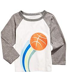 Baby Boys Basketball-Print T-Shirt, Created For Macy's