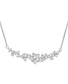 "Diamond Scatter 15-1/2"" Scatter Necklace (1 ct. t.w.) in 14k White Gold"