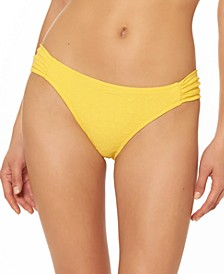 Rose Bay Textured Shirred Bikini Bottoms