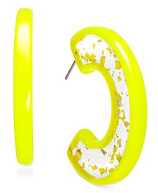 "INC Gold-Tone Medium Resin Speckle Hoop Earrings, 1.75"", Created For Macy's"