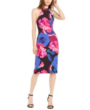 Trina Trina Turk Emotion Floral-Print Midi Dress