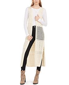 Freshman Juniors' Crocheted Tunic Vest