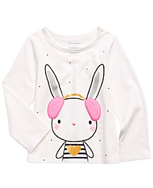 Toddler Girls Long-Sleeve Bunny T-Shirt, Created For Macy's