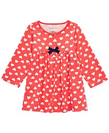 Baby Girls Heart-Print Tunic, Created For Macy's