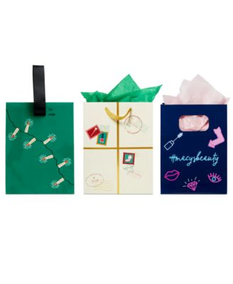 Lipstick Light Up Tree Gift Bag