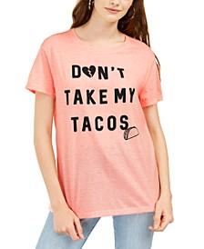 Juniors' Taco Graphic Print T-Shirt