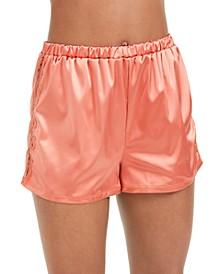 Women's Madeline Lace-Trim Boxer Sleep Shorts