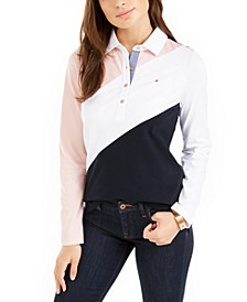 Long-Sleeve Colorblocked Rugby Polo, Created for Macy's