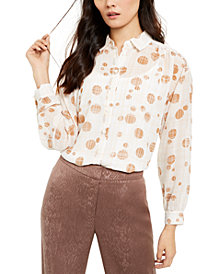 Alfani Printed Blouse, Created For Macy's