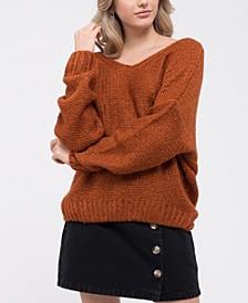 Twist-Back Knit Sweater
