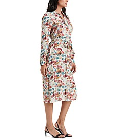 Chelsea Floral-Print Belted Shirtdress