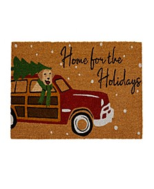 Home for the Holidays Coir Mat