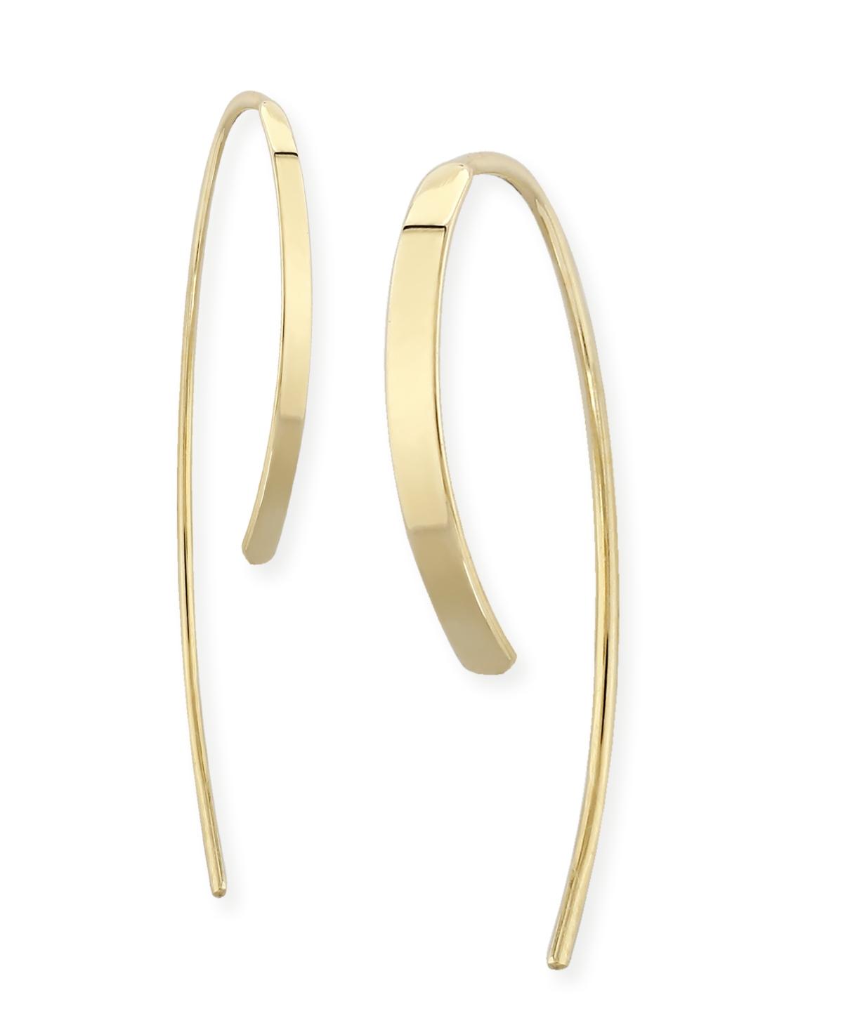 Simple Sweep Drop Earrings Set in 14k Gold