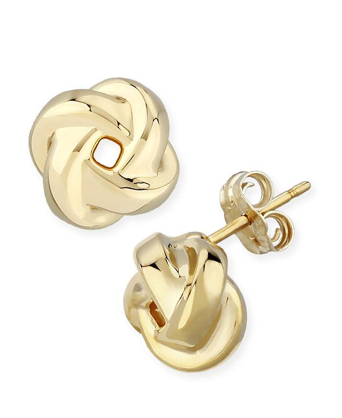 Macy's - Love Knot Stud Earrings Set in 14k Gold (8mm)