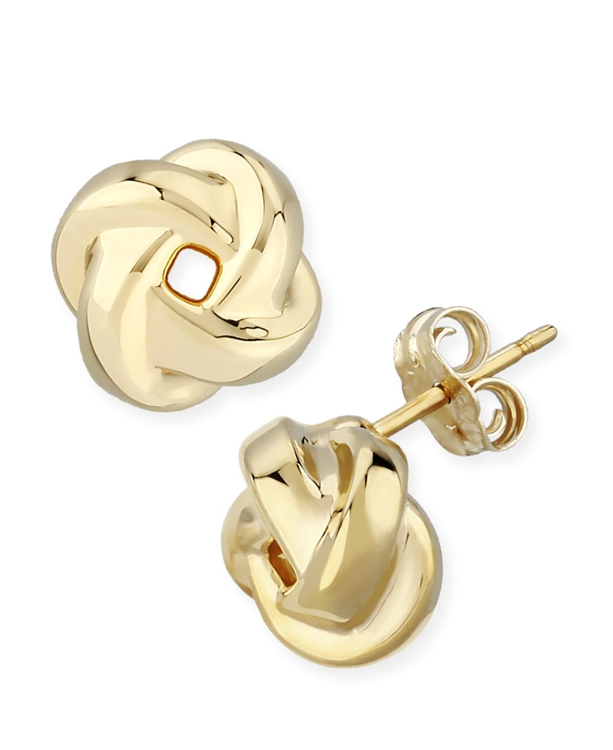 Love Knot Stud Earrings Set in 14k Gold (8mm)