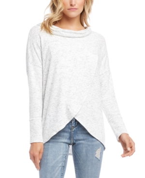 Karen Kane Tops COWL-NECK CRISSCROSS TOP