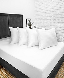 Down Alternative Bed Pillow with 300 Thread Count Cotton Cover - 4 Pack