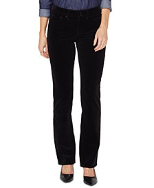 Marilyn Double-Snap Straight-Leg Corduroy Jeans