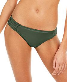 La Blanca Island Goddess Ruched-Side Hipster Bikini Bottoms