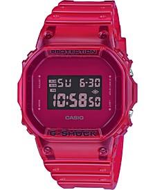 Men's Digital Red Resin Strap Watch 42.8mm