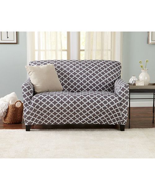 Home Fashion Designs Home Fashions Designs Brenna Collection Stretch Fit Form Fitting Printed Twill Love Seat Slipcover Reviews Slipcovers Home Decor Macy S
