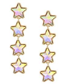 Gold-Tone Star Linear Earrings