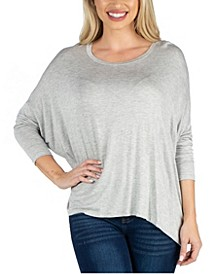 Loose Fit Dolman Sleeve Tunic Top