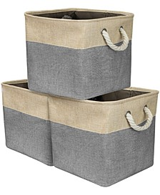 Twill Storage Basket, Set of 3