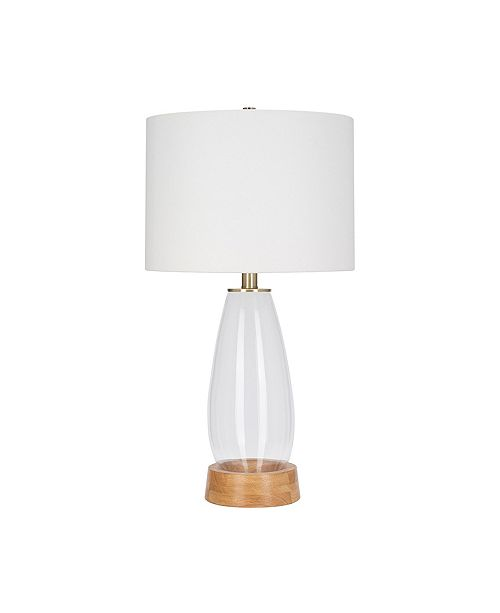 JAlexander Lighting Felix Natural Glass Table Lamp
