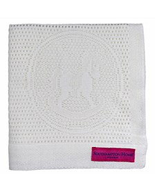 Lace Weave Rocking Horse Baby Blanket