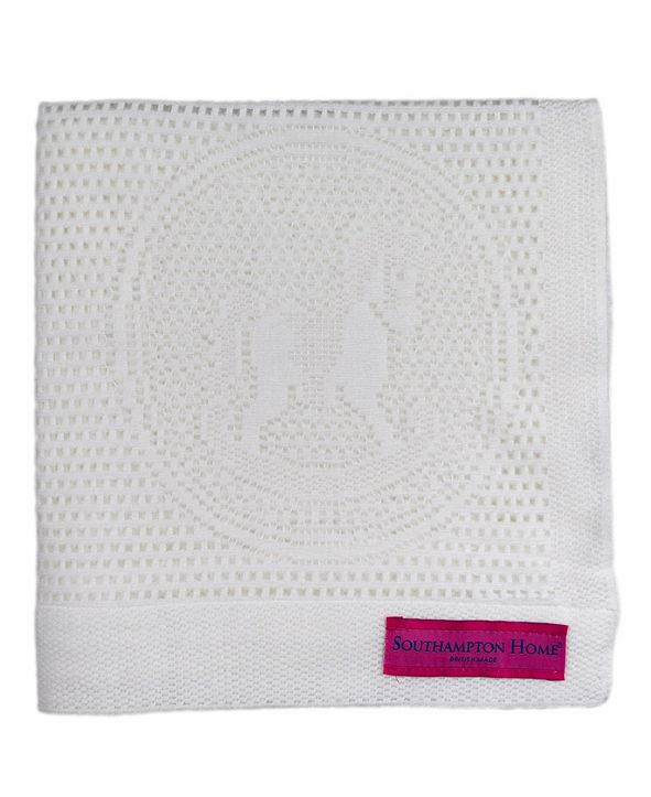 Southampton Home Lace Weave Rocking Horse Baby Blanket