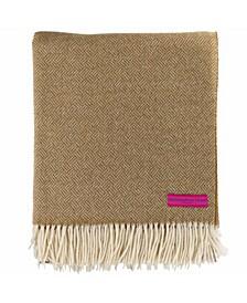 Basket Weave Merino Wool Throw