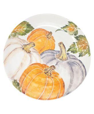 Pumpkins Large Serving Bowl w/ Assorted Pumpkins