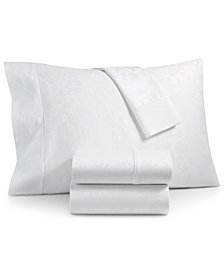 Bergen House Woven Floral Vine 4-Pc. Full Sheet Set, 1000-Thread Count 100% Certified Egyptian Cotton