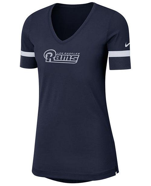 Nike Women's Los Angeles Rams Dri-Fit Fan Top