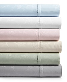 Bergen House Woven Floral Vine 4-Pc. Extra Deep Sheet Sets, 1000-Thread Count 100% Certified Egyptian Cotton