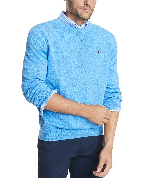 Tommy Hilfiger Men's Signature Regular-Fit Solid Sweater