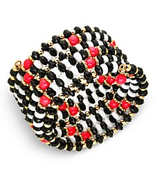 INC Gold-Tone Beaded Coil Bracelet, Created For Macy's