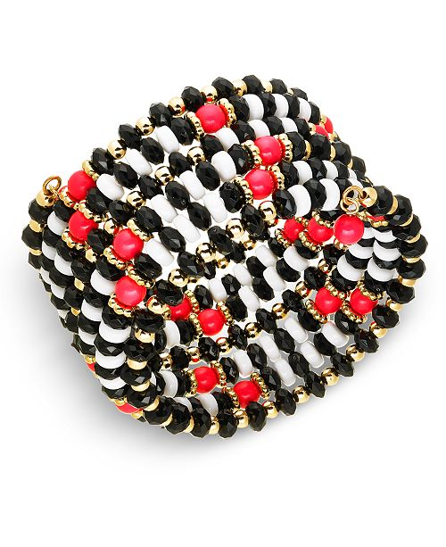 INC International Concepts INC Gold-Tone Beaded Coil Bracelet, Created For Macy's